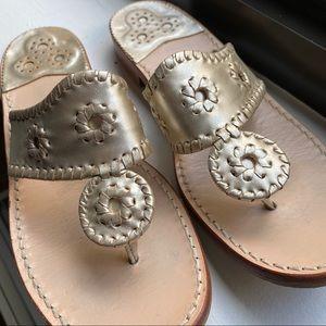 Jack Rogers Hamptons Sandal in Platinum